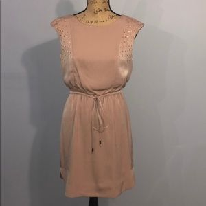 Vince Camuto Tan Polyester Dress size 6